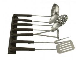 Набор кухонный с пластмассовыми ручками 7 предметов